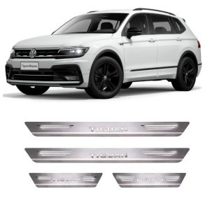 Soleira de Porta VW Tiguan 2018 a 2021 Inox Escovado GPI