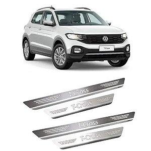Soleira de Porta VW T-Cross 2019 a 2021 Inox Escovado GPI