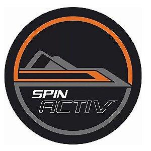 Capa de Estepe Comix Chevrolet Spin Activ Cinza e Laranja