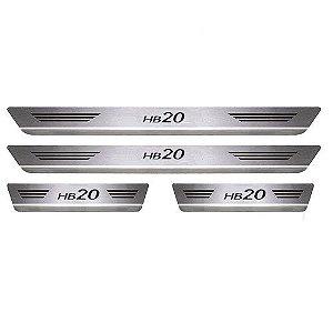 Soleira Porta Hyundai HB20 Aço Inox Escovado Mult