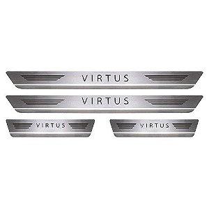 Soleira de Porta Mult Volkswagen Virtus Aço Inox Escovado