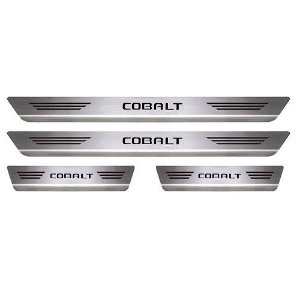 Soleira Porta Chevrolet Cobalt Aço Inox Escovado Mult
