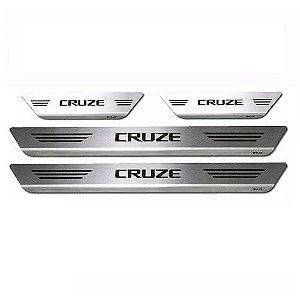 Soleira Porta Chevrolet Cruze Aço Inox Escovado Mult