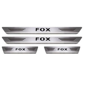Soleira de Porta Mult Volkswagen Fox Aço Inox Escovado