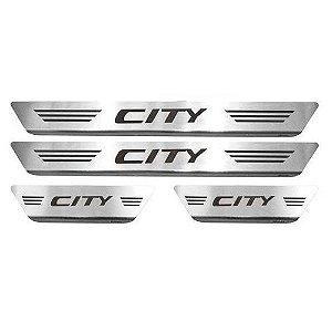 Soleira Porta Honda City Mult Inox Escovado