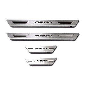 Soleira de Porta Mult Fiat Argo Aço Inox Escovado