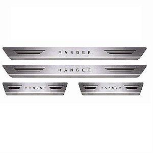 Soleira Porta Ford Ranger Cabine Dupla Mult Inox Escovado