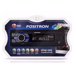 Som Automotivo Bluetooth MP3 Radio FM USB Micro SD Positron SP2310BT
