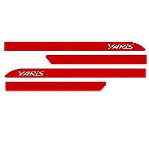 Kit Friso Lateral Toyota Yaris Vermelho Super SEAN CAR