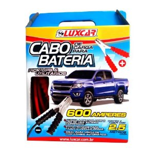 Cabo Chupeta Transferência de Carga de Bateria Luxcar 600 Amperes