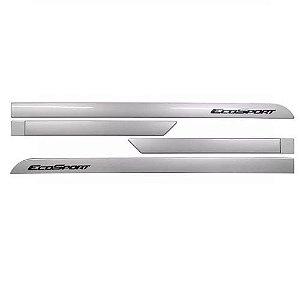 Jogo de Friso Lateral Sean Car Ford Ecosport 2013 a 2018 Prata Enseada