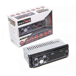 Som Automotivo FM MP3 Aux 2 Entradas USB Fujion FJ308