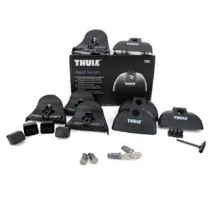 Kit Suporte Rack Thule 753 Barras Laterais Rapid System