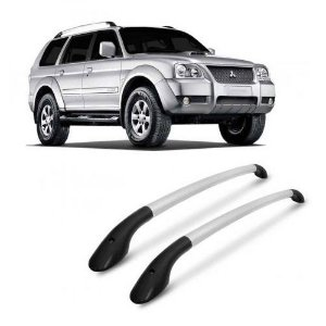 Longarina de Teto Tubular Projecar Mitsubishi Pajero Sport 2006 a 2011 Prata