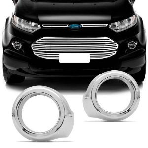 Moldura de Farol de Milha ShekParts Ford Ecosport 2013 a 2017 Cromado