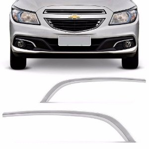 Moldura Farol de Milha ShekParts Chevrolet Onix 2012 a 2016 Cromado