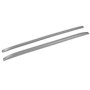Longarina de Teto Decorativa Universal TG Poli 1.60m Slim Prata Par