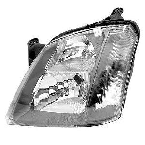 Farol Meriva 2003 a 2012 Esquerdo Mascara Cinza Automotive Imports