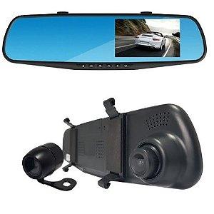 """Retrovisor com Câmera de Ré e DVR Tela LCD 4,3"""" RS-510BR Roadstar"""