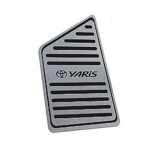 Descanso De Pé Aço Inox Toyota Yaris 2018 a 2020