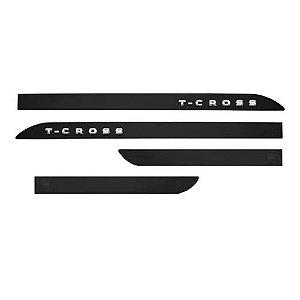 Kit Friso Lateral Slim Sean Car Volkswagen T-Cross 2019 2020 Preto Ninja