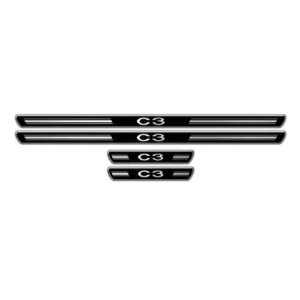 Soleira de Porta URA Citroen C3 Resinado Escovado