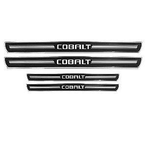 Soleira de Porta URA Chevrolet Cobalt Resinado Escovado