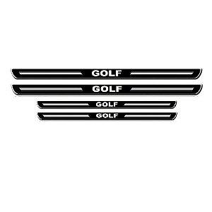 Soleira de Porta URA Volkswagen Golf Resinado Escovado