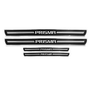 Soleira de Porta URA Chevrolet Prisma Resinado Escovado