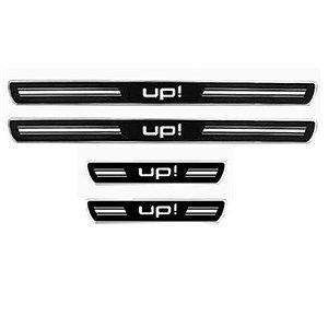 Soleira de  Porta URA Volkswagen UP 4 Portas Resinado Escovado