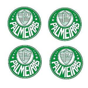 Emblema de Calota Palmeiras 48 mm Resina URA