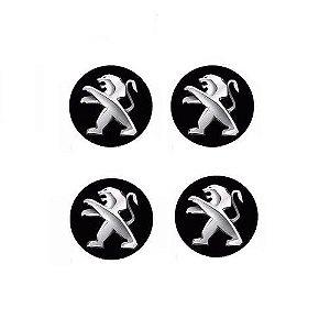 Emblema de Calota Peugeot 48 mm Resina URA