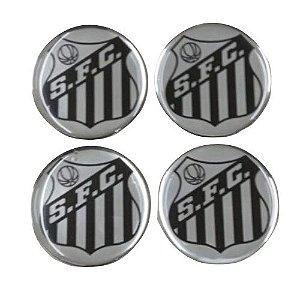 Emblema de Calota Santos 48 mm Resina URA