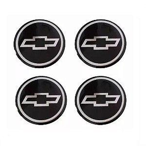 Emblema de Calota Chevrolet Preto 48 mm Papel URA