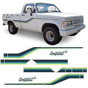 Faixa Decorativa D20 Conquest Azul e Verde Decal Line