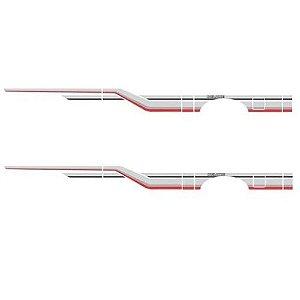 Faixa Decorativa D20 Cabine Simples Cinza e Vermelho Decal Line