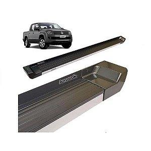 Estribo Lateral Attack Amarok Cabine Dupla 2011 a 2020 Cinza Iron