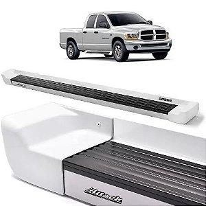 Estribo Lateral Attack Dodge Ram Cabine Dupla 2012 a 2015 Branco