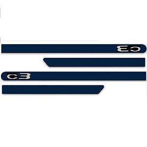 Kit Friso Lateral Citroen C3 2013 a 2018 Azul Bourrasque