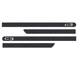 Kit Friso Lateral Citroen C3 2013 a 2018 Gris Grafito