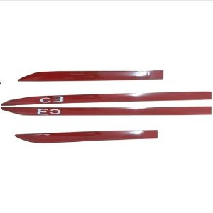 Kit Friso Lateral Gpi Citroen C3 2013 a 2018 Vermelho Aden