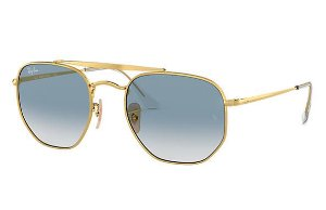 RAY-BAN MARSHAL AZUL CLARO OURO DEGRADE