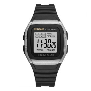 Relógio Sport Retro Prata