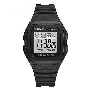 Relógio Sport Retro Preto