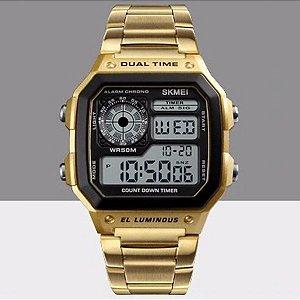 Relógio Digital Dourado