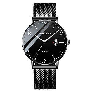 Relógio Ultra Fino Preto