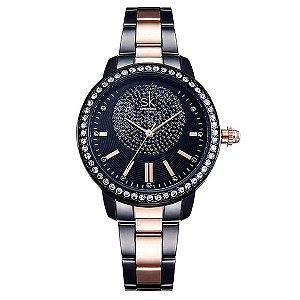 Relógio Cristal Luxo