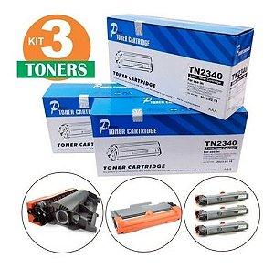 Kit 3 toner Tn2340 Tn660 Tn2370 dcp2540