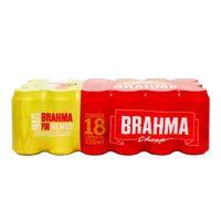 Cerveja Brahma 350ml Lata fardo com 18
