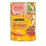 Alimento Gat Friskies 85g Sac Salmao Ao Molho